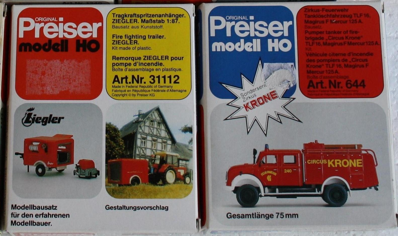 Preiser 14205 H0 Figuren Feuerwehrmänner