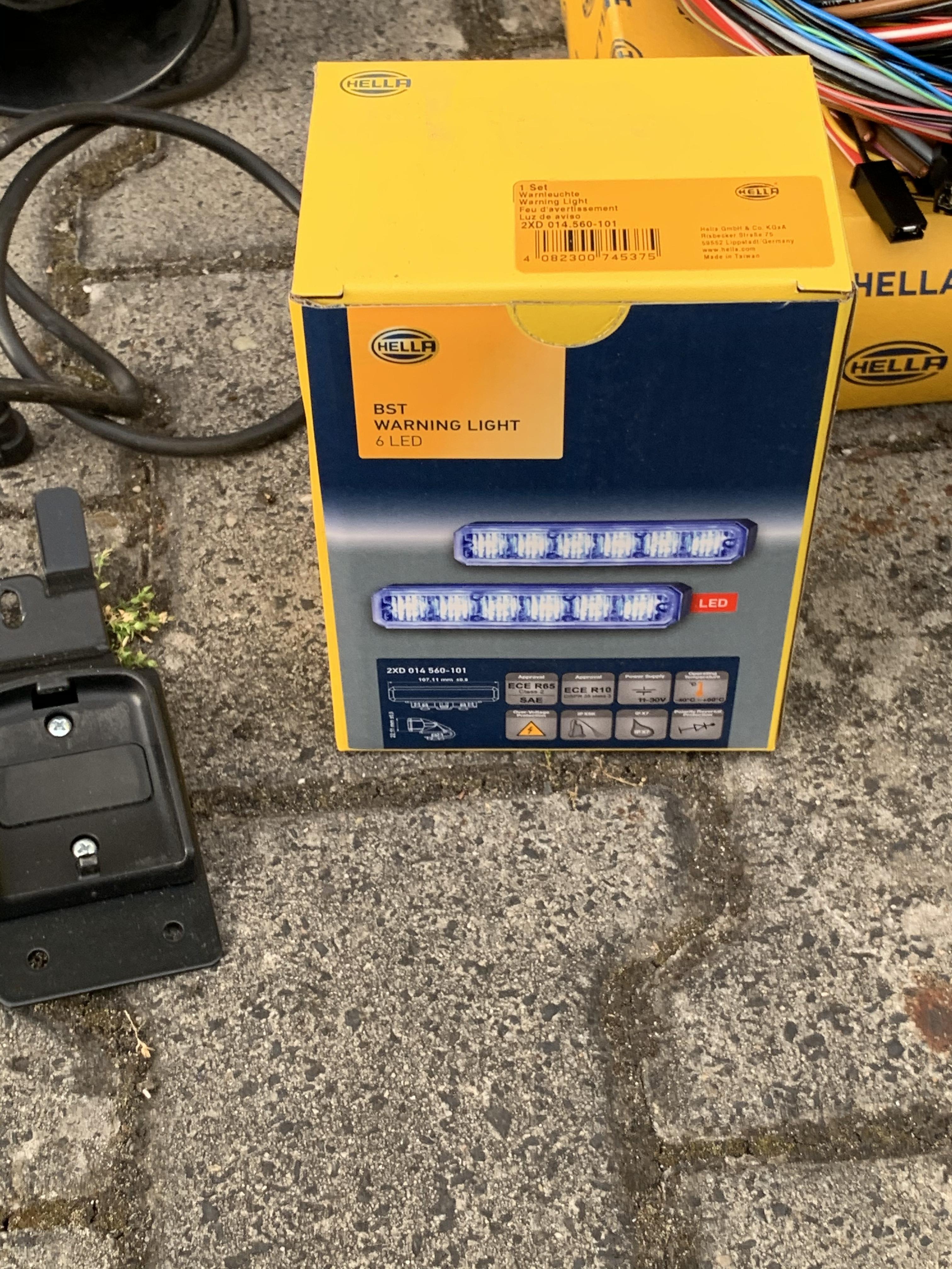 Hella RTK7 1100mm KDOW / ELW / MTW komplett Set gebraucht