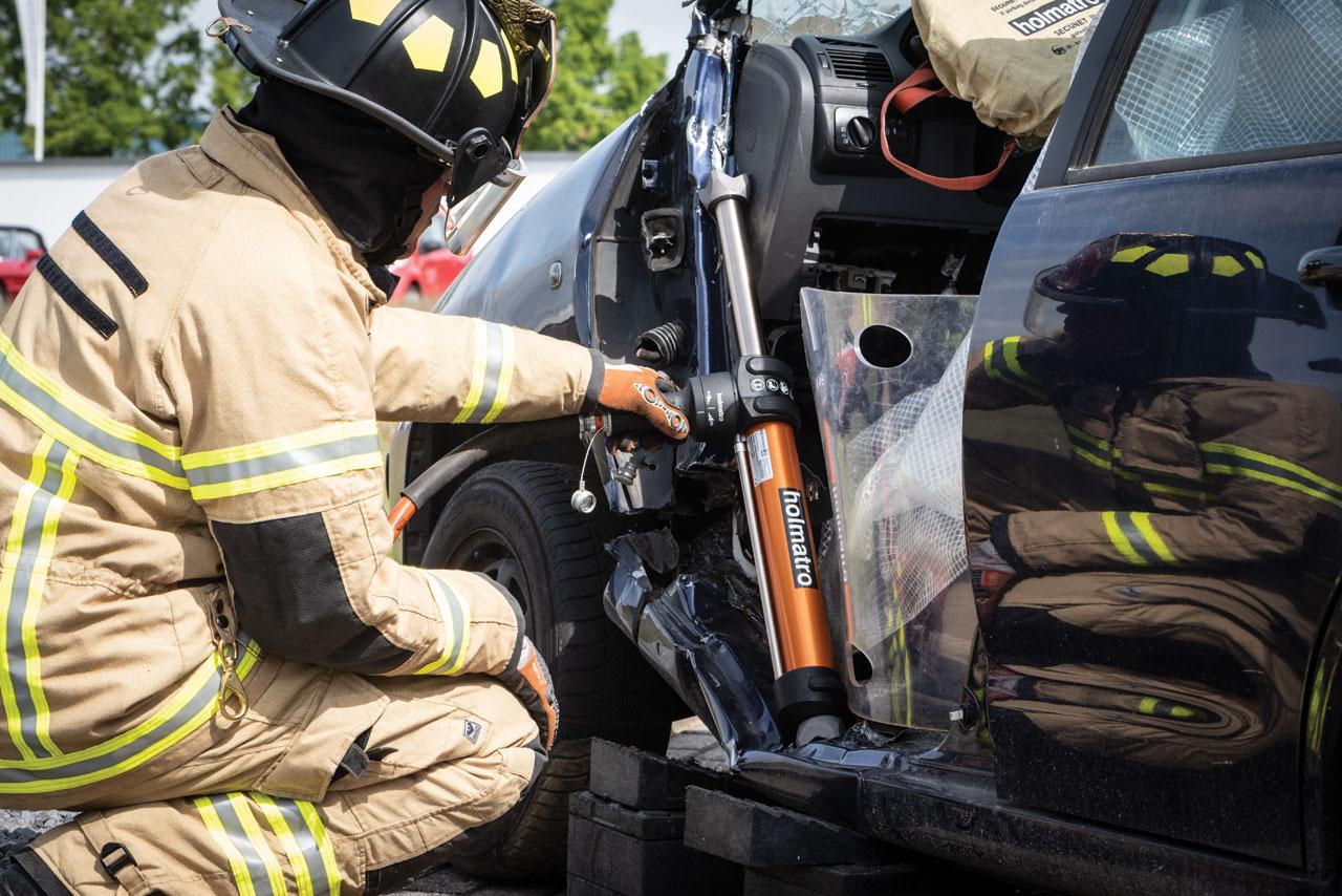Unfall bei Feuerwehreinsatz